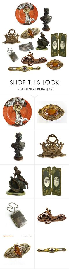 """Art Nouveau"" by patack ❤ liked on Polyvore featuring interior, interiors, interior design, home, home decor, interior decorating, Royal Doulton, Hostess, vintage and antiques"