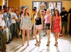 "In this movie ""Mean Girls"" the 4 main characters, Regina, Karen, Gretchen and Cady have rules in terms of clothing. They are only allowed to wear jeans on fridays. The article ""Jeaning of America"" can be used to explain the reason why they have these rules. The article states that jeans ""lack of differentiation results not in a freedom to be oneself, but the freedom to hide oneself (2)."""