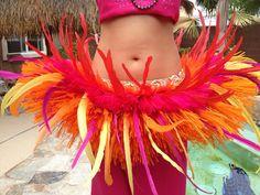 Extra fancy orange and pink Tahitian hip hei by ISLANDMANA on Etsy