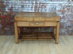Rustic French Butchers Block