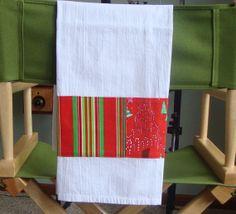 Holiday Tea Towel  Dish Towel  Flour Sack by ShaggyBaggy on Etsy, $12.00