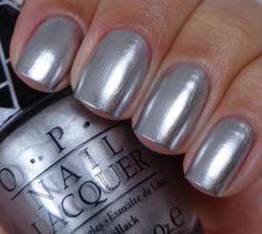 OPI:  Push And Shove ... silver chrome mirror polish (Gwen Stefani Collection)