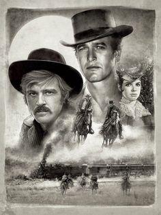 Paul Shipper's Butch Cassidy and the Sundance Kid Illustration