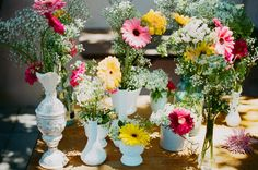 nice!  it doesn't have to be matchy, matchy!  Back Yard Weddings On a Budget | Budget Backyard Wedding - Rustic Wedding Chic
