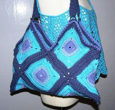 crochet Beachbag Purse shopping Bag BOHO Gypsy by CrochetRagRug