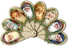 Vintage Santas Fan 2.00 digital download