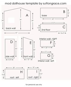 Sutton Grace: mod doll house plans