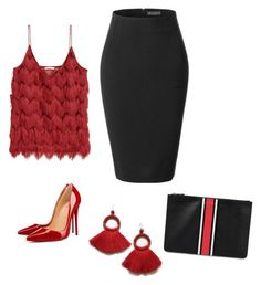 """""""chics"""" by mchlap on Polyvore featuring LE3NO, Christian Louboutin and Givenchy"""