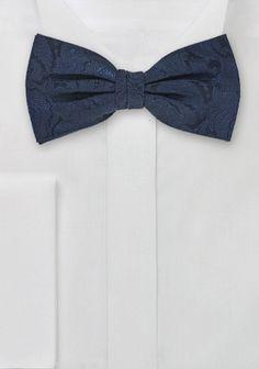 Schleife Paisley-Muster navyblau navyblau