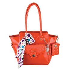 Grace Adele Patent leather orange bag and clutch Order your customized look today at www.analise.graceadele.us