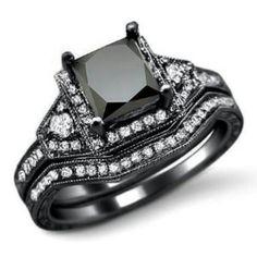 Beautiful black-diamond wedding ring