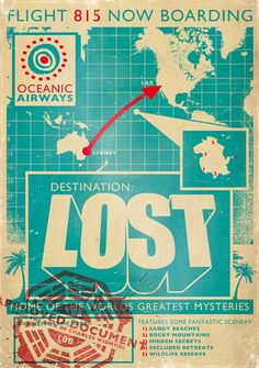 This was my first attempt at a Lost Poster. After doing screen printed style posters for a while it took me a long time to think to do one for Lost!
