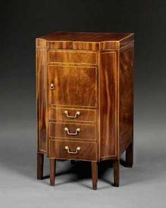 George III Mahogany and Inlaid Gentleman's Dressing Table by Gillows of Lancaster CIRCA 1790  Must see it open - page won't pin!  US $4,710