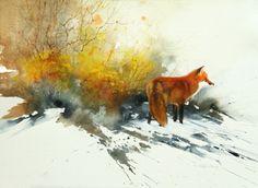 Full Winter Coat 11x14  Watercolor