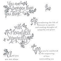 Heartfelt Sympathy Stamp Set - Mojo Monday #410 - Still Stamping With Sue