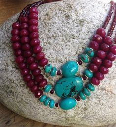 CRANBERRY DELIGHT NECKLACE – bellaPerlina Jewelry