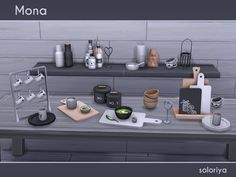 Monochromatic set with wooden elements. Includes 13 decorative objects. Each object can be found in category Decorative - Clutter. Items in the set: Found in TSR Category 'Sims 4 Decorative Sets'