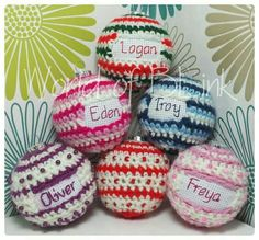 Crochet covered baubles
