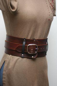Warrior Leather Kidney Belt by Versalla on Etsy