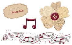 Music Digital Embellishments from Creative Memories - click to download for free!