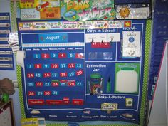 Absolutely Love This Calendar Pocket Chart It Includes The Estimation Jar And Make