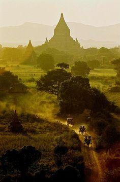 Shwe-san-daw Paya, in Bagan, Myanmar