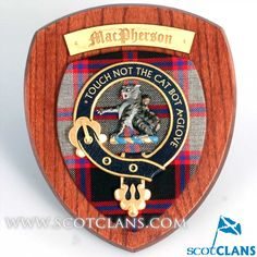 MacPherson Clan Crest Wall Plaque