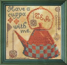 Have A Cuppa (of tea) - pdf file by TemptingTangles on Etsy