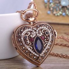 - Blucome Love Heart Red Pocket Watches Sweater Vintage Turkish Pendant Bronze Quartz Necklaces – J - Cute Jewelry, Jewelry Accessories, Jewelry Design, Boho Jewelry, Jewelry Necklaces, Quartz Necklace, Pendant Necklace, Dangle Earrings, Antique Jewelry