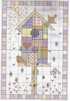 Schema punto croce Nido-patchwork