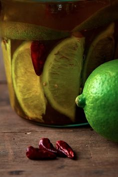 The infamous lime pickles featured in the book Little Women. (Curious? Amy, chapter 7). Love recipes with a history.