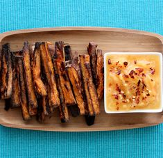 Baked Sweet Potato Fries with Mango Dipping Sauce