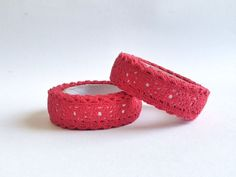 Nastro Adesivo di pizzo rosso / Lace Fabric Tape Red by Partytude