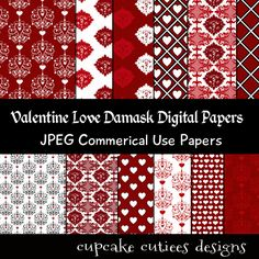 Valentine Love Papers. These are beautiful!! Great for invitations, cards, and paper goods. Great scrapbooking papers!