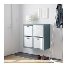 KALLAX Regal - Hochglanz grautürkis - IKEA Mehr