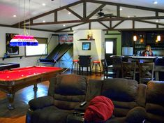 Splashy floating beer pong table in Orange County EANF with Game Room Bar next…