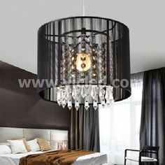 Aliexpress.com : Buy Black Crystal Chandelier with 1 LED Bulb;Flush Mount  Mini Style Pendant Chandelier Light Fixture for Kitchen, Dining Room from  Reliable ...