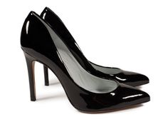 Aneley, glossy high heel pump in black gloss patent.   Pedro Garcia Shoes Spring-Summer 2015   Made in Spain