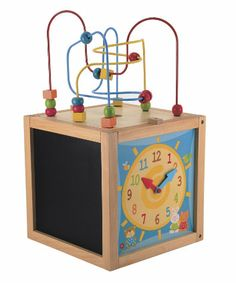 Educational Toys and Games. ELC Wooden Activity Cube. Your toddler will love exploring the activity cube with their little hands. This wooden activity cube contains five different activities to discover. #Kids #Toys #Fun