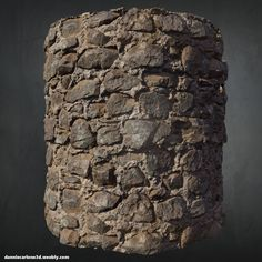 Old Stone Wall - Zbrush + Substance Designer, Dannie Carlone on ArtStation at https://www.artstation.com/artwork/OP9d6
