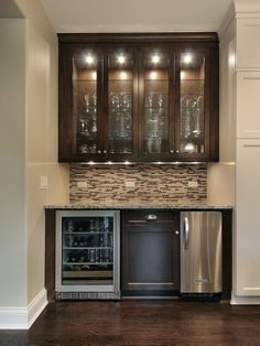 classy bar storage-perfect for basement or small extra entertaining space.