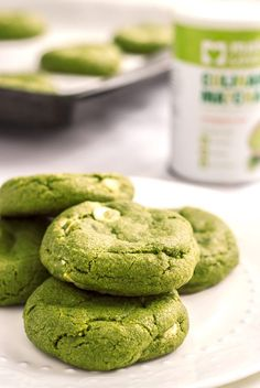 white chocolate matcha cookies