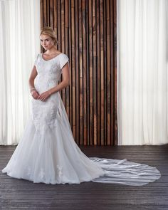 b884d1650d28 Bridal Gown, Removable Train, Mermaid, Lace and Tulle Bonny Bridal Wedding  Dresses,. Veronica Michaels