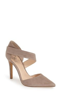 Free shipping and returns on Vince Camuto 'Carlotte' Pointy Toe Pump (Women) at Nordstrom.com. Flattering and feminine, the Carlotte begins as a classic d'Orsay pump but becomes something even more alluring with an asymmetrical strap that curves across the vamp.