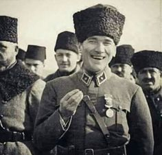 Your smile was beautiful, peace. We need you Atatürk. Turkish Army, The Legend Of Heroes, The Turk, Great Leaders, World Peace, Camping And Hiking, Historical Pictures, Winter Hats, My Hero