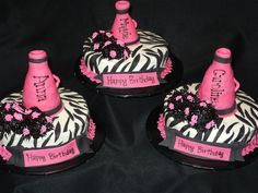 cheer cakes | cake pics 2011 » pom poms & megaphones