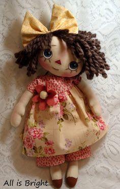 Primitive Raggedy Doll  Grace by Allisbright on Etsy.  www.etsy.com/shop/allisbright