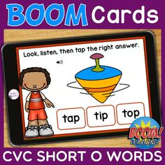 THIS IS AN INTERACTIVE DIGITAL RESOURCE. Download the preview to play a shortened version of the Boom Deck – this will help you decide if the resource is suitable for your students. ABOUT THIS BOOM DECK: Students will look at the picture, listen to the word, then tap on the word with the short O sound, from a choice of three words.