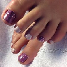50 adorable Summer Toe Nail Art Inspiration for Summer, the Beginning Pleasure . - 50 Adorable Summer Toe Nail Art Inspiration for Summer, The Pleasure to Start – 35 Pretty Toe Nails, Cute Toe Nails, Fancy Nails, Purple Toe Nails, Purple Toes, Chevron Nails, Cute Toes, Purple Ombre, Pretty Toes