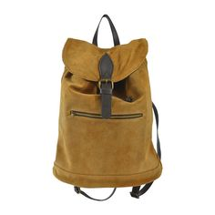 Karamelový kožený batoh Inna